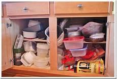 hometalk plastic ware cabinet organization