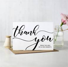 Wedding Thank You Card Examples What To Write In Your Thank You Cards Warwick House