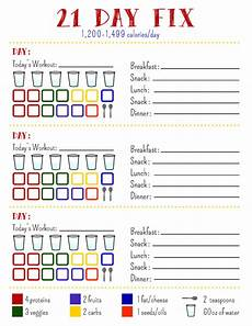 21 Day Fix Chart 21 Day Fix Tracking Sheet 1200 Calorie By Allisonrainsdesigns