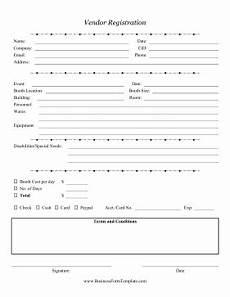 Vendor Registration Form Template Vendor Registration Form Template