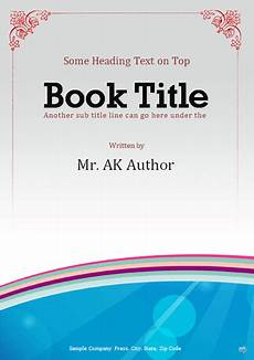 Online Title Page Maker Booklet Template Office Templates Online