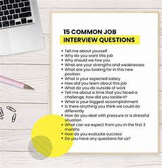 Typical Interview Questions 15 Common Job Interview Questions You Ll Be Asked And How