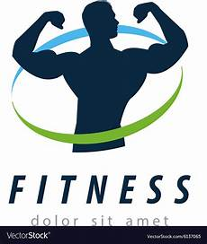 Fitness Logo Design Fitness Logo Design Template Health Or Gym Vector Image