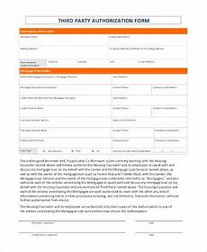 Blank 3rd Party Authorization Form Free 7 Sample Third Party Authorization Forms In Pdf