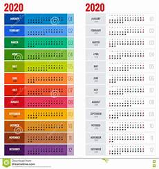 2020 Business Calendar Yearly Wall Calendar Planner Template For 2020 Year