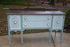 before and after a vintage buffet makeover thrift