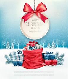 weihnachtsgeschenke mit einem gutschein und einem sack