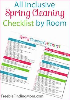 Cleaning Checklist By Room All Inclusive Spring Cleaning Checklist By Room Free