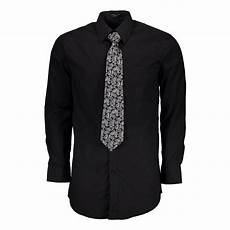 mens black dress shirts sleeve shop s regular fit solid sleeve black dress shirt
