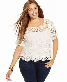 plus size sleeve tops inc international concepts plus size sleeve crochet