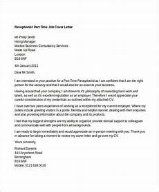 Part Time Job Cover Letter Student 11 Part Time Job Cover Letter Templates Free Sample