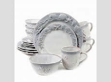 Seashore Bay 16 Piece Dinnerware Set in Cream   Bed Bath