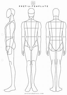 Body Templates For Designing Clothes Man Body Figure Fashion Template D I Y Your Own