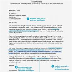 Education Job Cover Letter Teacher Cover Letter Example And Writing Tips