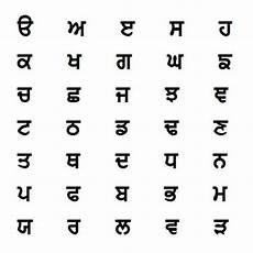 Punjabi Grammar Charts Punjabi Alphabet Differences And Similarities Alphabet