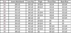 Waist Size Chart For Women S Jeans I Measured My Waist To Get A Size For Suit Trousers And I