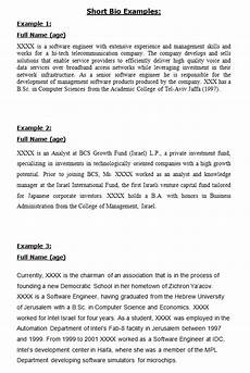 Short Bio Template 45 Free Biography Templates Amp Examples Personal