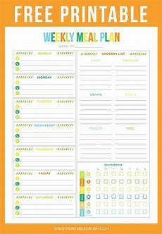 Meal Planning Template Free Free Printable Weekly Meal Planner Printable Crush