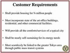Customer Service Requirements Ppt Shimizu Mega City Pyramid 1 Powerpoint Presentation