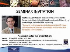 Seminar Invitation Card Sample Seminar Invitation Department Of Microbiology Blog