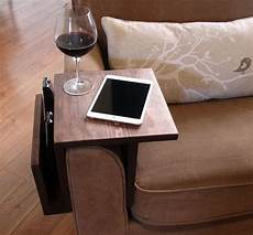 Sofa Armrest Tray 3d Image by Handmade Arm Rest Tray Table With Slight Overhang And Side