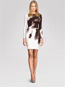 gucci side drape dress in white lyst