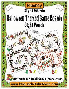 Halloween Themed Words Halloween Themed Game Boards Sight Words Sight Word