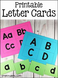 Letter And Printable Letter Cards Prekinders