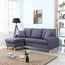 Tiny Sectional Sofa 3d Image by Mid Century Modern Linen Fabric Small Space Sectional Sofa