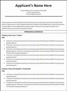Chronological Resume Template Free Chronological Resume Templates 5 Free Printable Ms Word