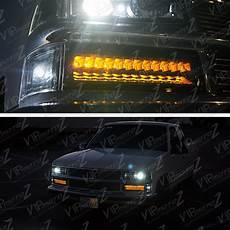 1997 Chevy Silverado Light Bulb 94 00 Chevy C10 C K 8pc Complete Black Headlight Corner