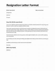 Resignation Letter Examples Resignation Letter Example