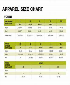 Clothing Size Chart 48 Printable Chart Templates