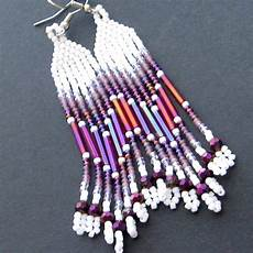 american beaded earrings seed bead earrings
