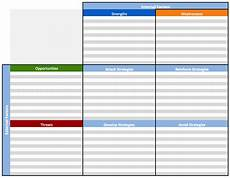 swot analysis excel template free swot analysis templates aha