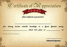Example Of Certificate Of Appreciation For Guest Speaker Token Of Appreciation Wording On Plaque For Guest Speaker