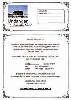 hasil gambar untuk contoh undangan manasik haji lengkap