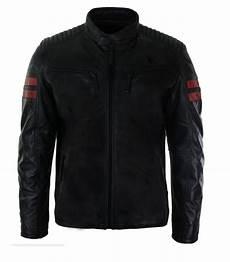 racing coats for mens real leather biker racing jacket stripes zip