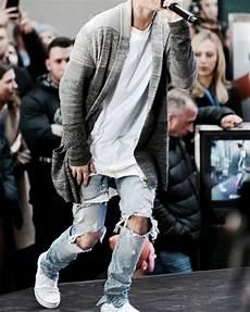 Justin Bieber Light Blue Jeans 2018 New Justin Bieber Fear Of God Best Version Fog Men