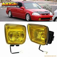 1996 Honda Civic Light Bulb Size For 1996 1997 1998 Honda Civic Ek Jdm Yellow Fog Lights