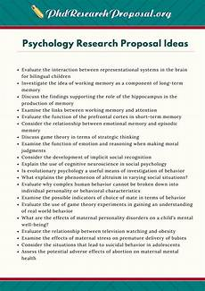 Research Paper Topics Ideas Psychology Research Proposal Ideas By Phd Research
