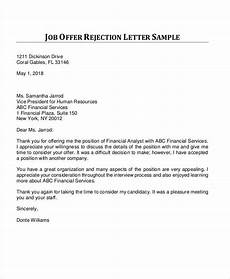 Rejection Letter Template 36 Rejection Letter Pdf Free Amp Premium Templates