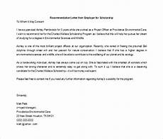 Recommendation Letter For Student From Employer 27 Letters Of Recommendation For Scholarship Pdf Doc