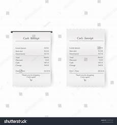 atm receipt template sales printed receipt vector bill atm stock vector