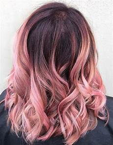 Black To Light Pink Ombre Hair Ombre Hair Color Ideas Trendy Ombre Hairstyles