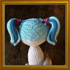 amigurumi crochet and sewing tips on how to create hair