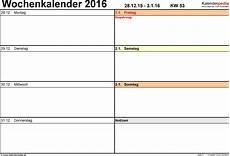 vorlage 7 wochenkalender 2016 als pdf vorlage querformat