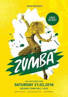 Free Zumba Flyer Templates Zumba Party Flyer By Lilynthesweetpea Graphicriver