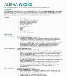 Medical Assistant Summary Certified Medical Assistant Resume Sample Livecareer