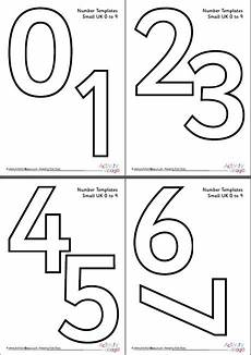 Take A Number Template Number Templates 0 To 9 Small
